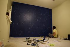 Baby Room Constellation Wall DIY When decorating our children's bedrooms, we look to keep things personal and creative while also reasonably priced, but