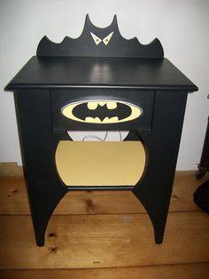Batman Nightstand - Handmade - Childrens or Adults
