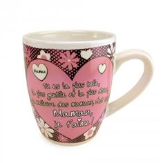 Une tasse pour la plus belle des Mamans qui la comblera de bonheur et lui permettra de se maintenir hydratée en toutes circonstances... en pensant à vous.!