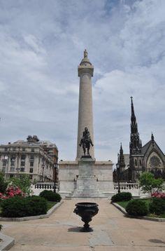 Baltimore's Mount Vernon Place...another Baltimore postcard shot!!