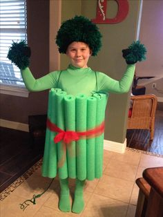 Broccoli costume for my son!!!