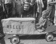 Kid Driving Bullet Car in Soap Box Deby 8x10 Reprint of Old Photo | eBay