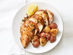 Garlic chicken with herbs receta garlic chicken and potatoes recipe food network kitchen food network forumfinder Choice Image