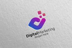Digital Marketing Financial Logo 57 by denayunebgt on @creativemarket Marketing Logo, Digital Marketing, Financial Logo, Logos, Logo