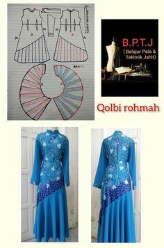 Lehnga Dress, Blouse Dress, Dress Muslim Modern, Stitch Patterns, Sewing Patterns, Pattern Making, Diy Clothes, Sewing Projects, Couture