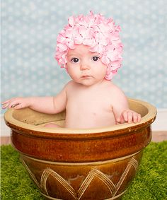 Look at this Adorable Me XO Pink Hydrangea Petal Hat on #zulily today!