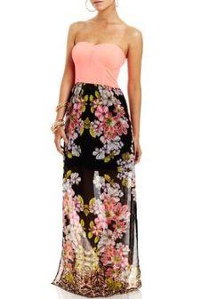 2B Floral Rebellion Maxi Dress #xoKxo ~Kisxbliss