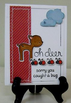 Using Lawn Fawn Get Well, Oh Deer and paper