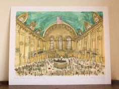 Grand Central Station New York City Art Signed by ClareCaulfield