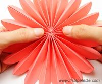 Step 13 Accordion Paper Flowers