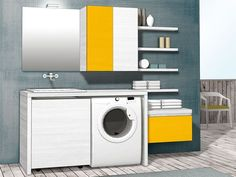 MOBILE LAVATRICE   (QUBO lavanderia composizione 44)