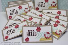 - Papierhandwerk -: Meine Swaps für das Überregionale Stampin Up Treffen in Frankfurt, Oh Hello