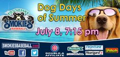 For tickets or information please call 865-286-2300 or visit www.smokiesbaseball.com