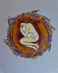 NEST- 11 x inspirational art/ birth art/ natural birth/ gift for new mom/ blessing way gift/ nest/ gift for mom/ new mom/ pregnancy Mother Art, Mother And Child, Breastfeeding Tattoo, Pregnancy Art, Pregnancy Memes, Pregnancy Journal, Early Pregnancy, Pregnancy Workout, Birth Art