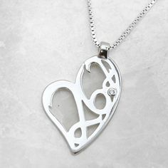 Gone For a Run Sterling Silver 262 Marathon Heart Pendant with Cubic Zirconia Stone Necklace -- Continue to the product at the image link.