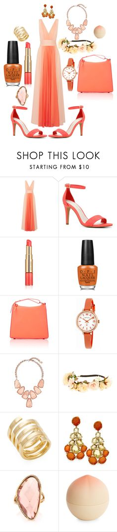 """""""Georgia Peach!"""" by unusualengagementringsreview ❤ liked on Polyvore featuring Halston Heritage, ALDO, Estée Lauder, OPI, 3.1 Phillip Lim, Marc by Marc Jacobs, Kendra Scott, claire's, Jennifer Zeuner and Mark Broumand"""