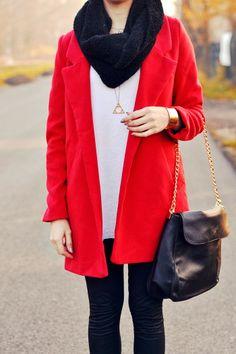 PersunMall coat, bag & bracelet, Stradivarius top, Zara leggings.