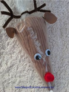Norwex Kitchen Cloth ~ Rudolph ~ Creative, cute way to gift Norwex!