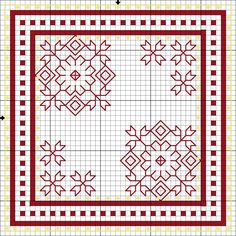 Flowers in the Garden - Lee Albrecht: Free blackwork pattern