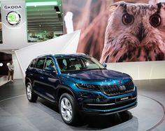ŠKODA dévoila son tout nouveau SUV baptisé KODIAQ à la fois robuste et élégant il se décline en de nombreux coloris originaux - A découvrir Pavillon 4 #MondialAuto #Skoda #kodiaq #voiture #automotive