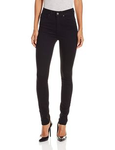 PAIGE Women's Margot Ultra Skinny Jean In Black Shadow, Black Shadow, High-rise skinnies in stretch black-wash denim featuring tonal stitching and silver-tone rivets/button. Casual Jeans, Jeans Style, Best Jeans For Women, Jeans Women, Skinny Fit, Skinny Jeans, Women's Jeans, Beste Jeans, Black Shadow