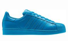 size 40 7e990 54586 Gloire à la naissance Homme Adidas Superstar Trainers Sharp Bleu S  Supercolor Pharrell x Williams