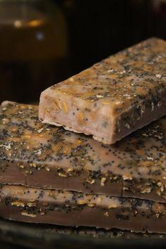 Handmade organic soap  organic vanilla oats poppy by SylvaPagana, $5.00