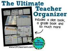 Clutter-Free Classroom: Creating Your Own Teacher Organization Binder {Lesson Plan, Grade Book, Attendance, Calendars, Birthday and More}