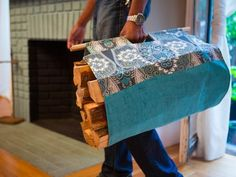 Easy Sewing Project: How To Make a Log Carrier : Home Improvement : DIY Network
