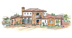 This 2 story Mediterranean features 3,539 sq feet. Call us at 866-214-2242 to talk to a House Plan Specialist about your future dream home!