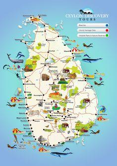Sri Lanka Interactive Map