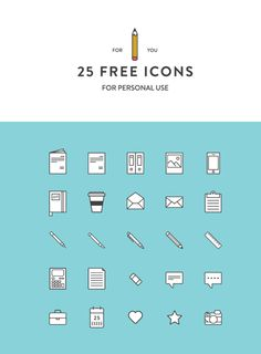 25 Free Icons by Martina Cavalieri, via Behance
