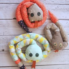 Land of Nod knock-off plush snake toy Your kids are sure to love this super cute stuffed animal you can make following the tutorial, from fabric scraps.