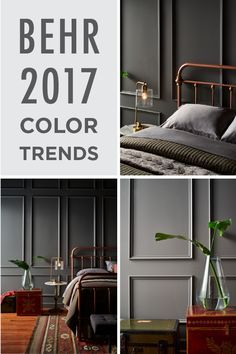 Add a chic and glamorous feel to your home by incorporating a multitude of modern industrial-inspired gray shades into your space. To get your design inspiration started, click to see more sophisticated paint color choices from the BEHR 2017 Color Trends!