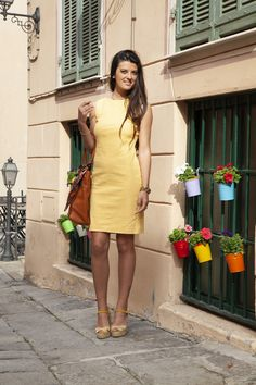 Summer, sun and fun! Shift dress in a mandarine linen blend (available as limited edition, link in bio) Model: Michela Maradati Photographer: Carlotta Broglio Summer Sun, Spring Summer, Day Dresses, Summer Dresses, Dress Suits, Resort Wear, Dress First, Yellow Dress, Spring Flowers