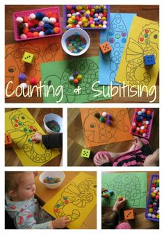 What is subitising and why it is important. Free printable mats for a fun counting and subitising game by learning 4 kids
