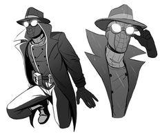 Noir Spiderman, Spiderman Art, Marvel Dc Comics, Marvel Avengers, Comic Character, Character Design, Spaider Man, Reptile House, Spideypool