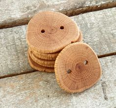 Elegance Handmade Wood Buttons  7 large  by forestinspiration, $17.00