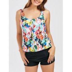 #NewYear #trendsgal.com - #Trendsgal U Neck Floral Blouson Tankini Set - AdoreWe.com