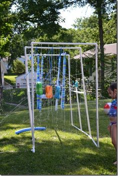 """Kiddie """"car wash"""". Much better than a slip n slide!"""