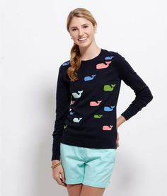 Shop Sweaters for Women: Whale Intarsia Sweater for Women - Vineyard Vines
