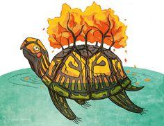 The Ojibwe Creation Story: Turtle Island   Urban Hermits