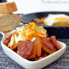 Spanish chorizo sausage, eggs and potatoes- my dad LOVES chorizo, this would be a perfect breakfast for father's day