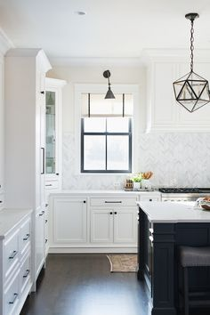 Roman Shades Kitchen #kitchendesign #interiordesign