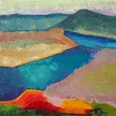 """West Austin View"" ©2014 DSR  ""24""x24"" Oil on canvas. SOLD http://debbismithrourke.blogspot.com/2014/04/2014-debbi-smith-rourke-west-austin.html Debbi Smith Rourke's Fine Art Blog"