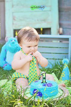 Monsters Inc Themed Birthday Cake smash Recent Work — EyeCandy Photography