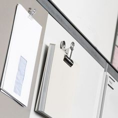 Colourful and inventive magnetic hooks and magnetic clips for office, kitchen or bath use. Many sizes and colours available - order now online! Aluminium, Magnets, Mirror, Bathroom, Kitchen, Design, Home Decor, Directional Signs, Wall Design