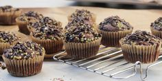 Triple choc, zinger and crackle muffins. I Quit Sugar - Gluten Free Chocolate Muffins recipe. Gluten Free Chocolate Muffin Recipe, Triple Chocolate Muffins, Gluten Free Muffins, Choc Muffins, Healthy Cake, Healthy Dessert Recipes, Gluten Free Desserts, Snack Recipes, Healthy Kids