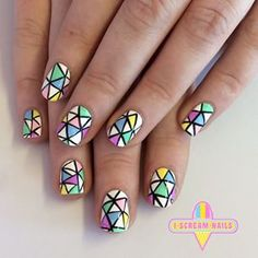 These stained-glass window designs. | 34 Photos That Will Make You Want To Step Up Your Nail Art Game