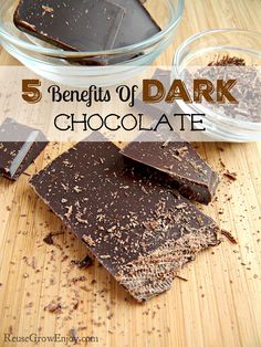 Sign me up! If eating chocolate is good for you I will take it! Check out these 5 Benefits Of Dark Chocolate, Yes It Is Healthy For You To Eat Chocolate! http://reusegrowenjoy.com/5-benefits-of-dark-chocolate/